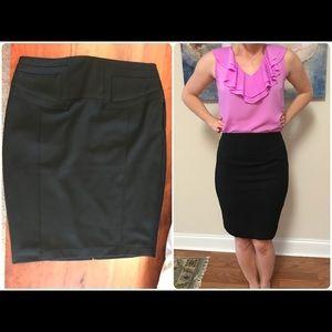 Black pencil skirt by Express sz 2